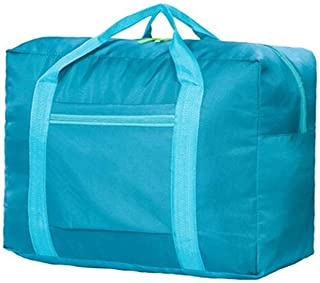 Waterproof Nylon Foldable Travel Bag Storage Duffel Bag Packable Lightweight Luggage Bag for Men and Women Sea Green