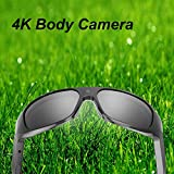 OHO 4K Ultra HD Water Resistance Video Sunglasses, Sports Action Camera with Built-in 32GB Memory and Polarized UV400 Protection Safety Lenses,Unisex Sport Design