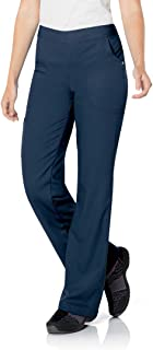 Urbane Modern Tailored-Fit 3-Pocket Drawstring/Elastic-Waist Scrub Pants for Women 9300