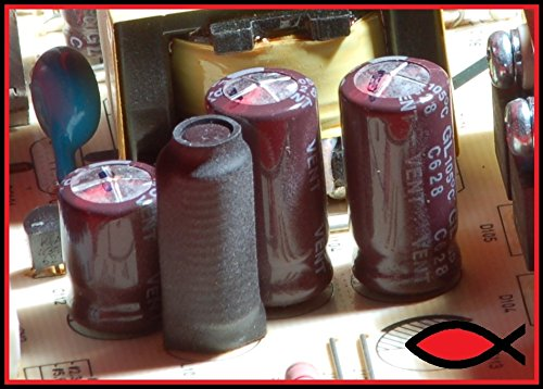10 pcs 1000uf 25v High Temp 105C capacitors for Monitors, TV, Motherboard and more. Electrolytic Low ESR. Good quality!
