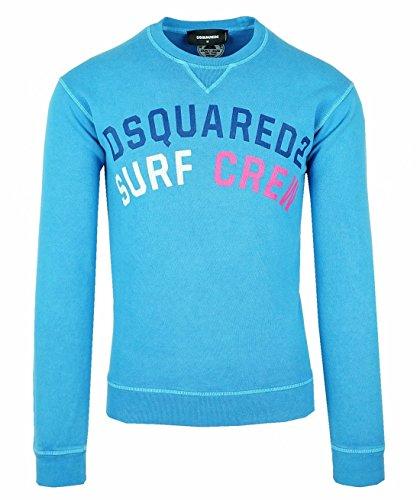 DSQUARED2 S74GU0156 Herren Men Pullover Sweatshirt Blau Blue Made in Italy (M)