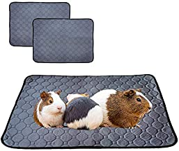 LWYMX Guinea Pig Fleece Cage Liners, Guinea Pig Pee Pad Washable and Reusable 2 Pack, Guinea Pig Bedding with Anti Slip Bottom, Pet Pee Pad with Super Absorption and Odor Control for Small Animals.