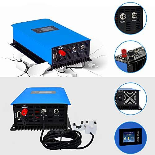 ECO-WORTHY 1000W 1KW MPPT Solar Grid Tie Inverter Power Limiter DC 22 to 65V Solar Input AC 110V PV System