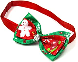 Scrox 1x Navidad Decoracion Mascotas Collar Perro Adornos Arco Perros Accesorios Abrigos Lindo Pajarita Gato Peluche