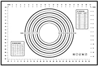 ベーキングマット、ベーキングマット、シリコンマット、ニーディングマット、ベーキングツール、滑り止めベーキングマット、テーブルマット。キッチンで焼くときに使用し、プレースマットとしても使用できます。色:黒、赤。サイズ:50 * 40cm (Color : Black, Size : 40*50cm)