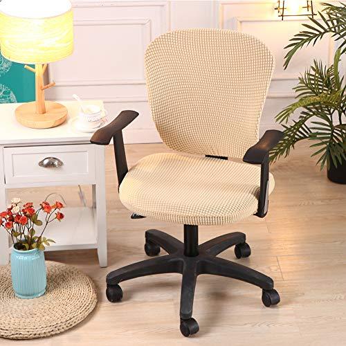 Zhongkaihua - Funda para silla de oficina, universal, extraíble, giratoria, resistente, resistente, para escritorio, silla ((sin silla), color beige