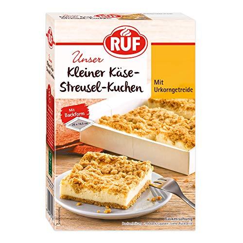 RUF Kleiner Käsekuchen mit Streuseln aus Urkorn-Getreide inklusiv Backform, 304 g