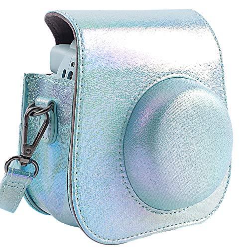 SAIKA Kameratasche für Fujifilm Instax Mini 9 Sofortbildkamera Auch passend für Mini 8 und Mini 8+ Kamera, Shining Blau