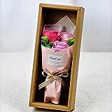 BIOフレグランスソープフラワー フェアリー3輪ローズBOX ギフトボックス お祝い 記念日 お見舞い ギフト (ピンク)