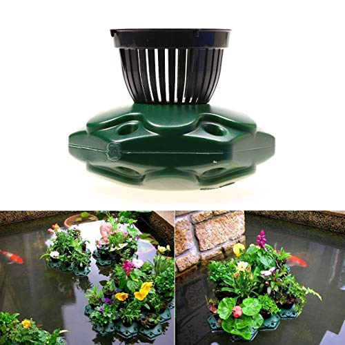 4pcs Aquaponics Floating Pond Planter Basket Kit - Hydroponic Island Gardens