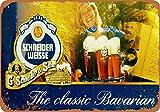 Schneider Weisse - Cartel de lata de cerveza para decoración de cocina, oficina, 20 x 30 cm