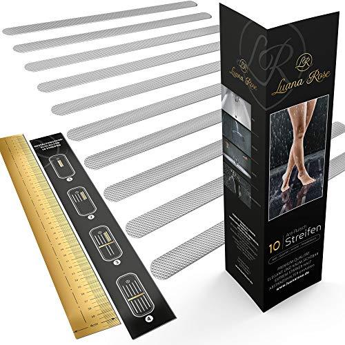 Luana Rose Anti-Rutsch Streifen für Badewanne & Dusche - Transparent & Selbstklebend - Premium Anti rutsch Badewannen Aufkleber Set - Dusch Sticker für 100% Rutsch-Schutz für Ihr Bad & Treppenstufen
