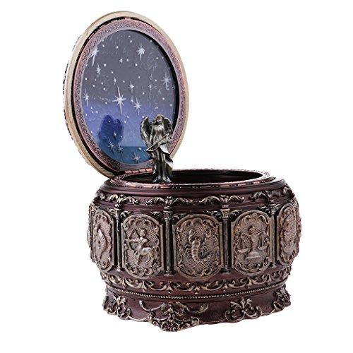 MagiDeal Boîte à Musique Lumineuse Rétro thème à Constellation en Résine pour Décoration - Sagittaire