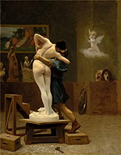 High Quality Polyster Canvas ,the Best Price Art Decorative Prints On Canvas Of Oil Painting 'Jean-Leon Gerome-Pygmalion And Galatea,1890', 10x13 Inch / 25x33 Cm Is Best For Wall Art Decoration And Home Decor And Gifts