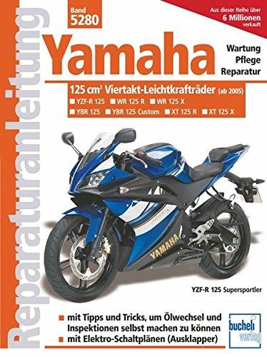 Yamaha 125-ccm-Viertakt-Leichtkrafträder ab Modelljahr 2005: YBR 125 (Allrounder), XT 125 R (Enduro), XT 125 X (Supermoto), YZF-R (Supersportler)