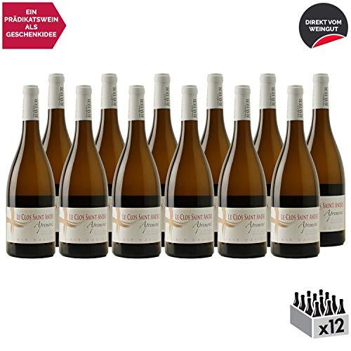 Vin de Savoie Apremont Le Clos Saint André Vieilles Vignes Weißwein 2018 - Philippe et Sylvain Ravier - g.U. - Savoie - Bugey Frankreich - Rebsorte Jacquère - 12x75cl