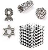 216 Pieces 3 Millimeter M-agnets Balls Building Game Building Blocks Toys for Intelligence Learning Development and Creative Educational Toy, Office Desk Toy & Stress Relief - Silver