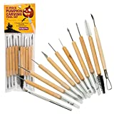 Pumpkin Carving Kit (21 Tool Set) w 11 Double Sided Pieces - Halloween Professional Sculpting,...