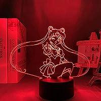 GMYXSW 3Dナイトライトバニーガール先輩アニメライトランプマイ桜島ポーズイリュージョンLEDナイトライトカラー誕生日プレゼントリモコン-ブラックベース_1