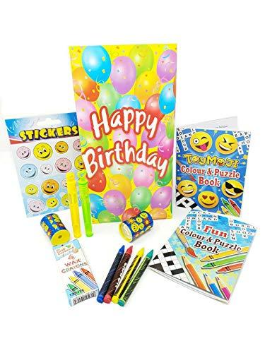 Pre gevuld Party Tassen Gelukkige Verjaardag Viering Jongens Meisjes Speelgoed Unisex 12 Party Tassen Geel