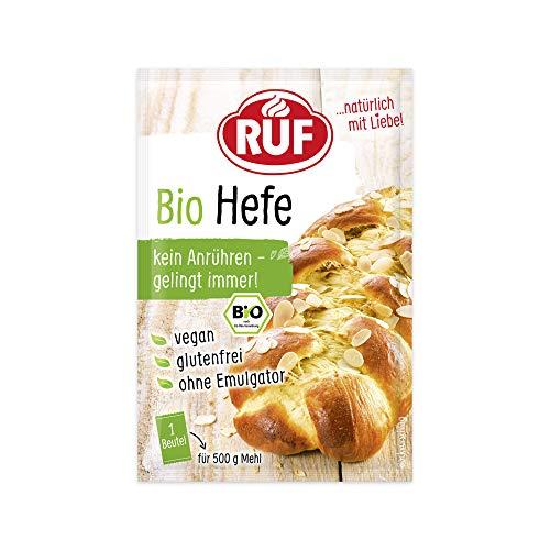RUF Bio Hefe ohne Emulgator und ohne Anrühren, 10er Pack (10 x 3 x 9g)