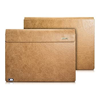 icarercase Surface Book Case,Surface Book 2 Leather Case Crocodile Series Genuine Leather Detachable Folio Cover for Microsoft Surface Book 13.5 Inch  Khaki