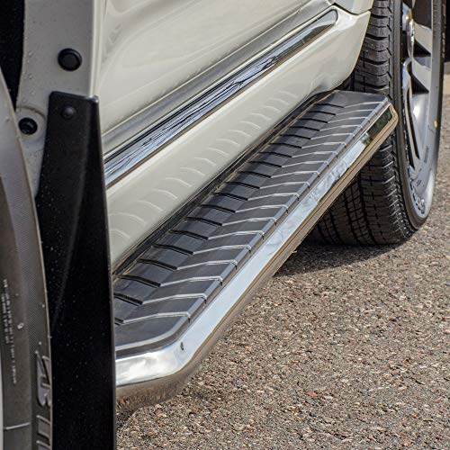 ARIES 2051038 AeroTread 5 x 73-Inch Polished Stainless SUV Running Boards, Select Nissan Pathfinder