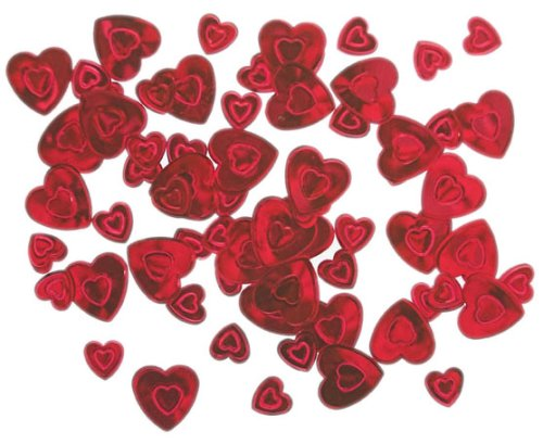 Amazing Red Aimer coeurs Mariage Tableau Confetti - 14g Red Heart Valentine Tableau confettis paquet