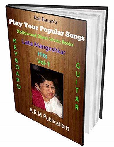 Bollywood Sheet Music Book LATA HITS ON KEYBOARD-GUITAR VOL 1