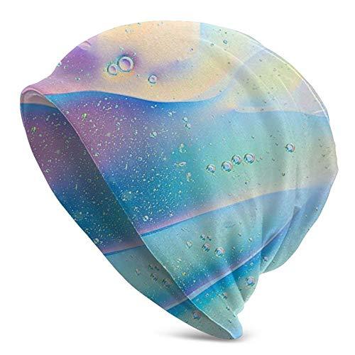 Linger In Colorido gradiente líquido Unisex Beanie Cap Gorro de Punto Sombrero elástico Gorro de Calavera PulloverGorros de Gorra