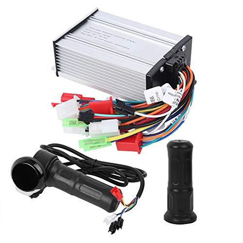 E-Bike-Drosselklappengriff, 1-Paar-LCD-Display-Elektro-Fahrradsteuerungsgriff mit 6-Röhren-3-Modus-Sinus 36V-48V für E-Bike-Elektroroller