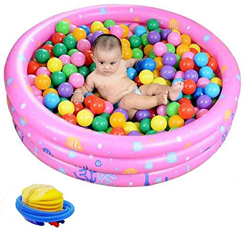LQH Inflatable Pool Round Inflatable Baby Swimming Pool Water Game Play Center Wading Pool for Outdoor, Garden, Backyard, Summer Water Party for Toddlers, Kids, Family,150cm (Color : 100cm)