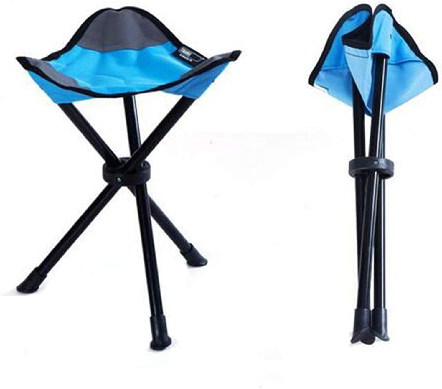 Portable Folding Chair Stool Triangle Camping Stool Furniture Beach Chair for Camping Traveling bluee