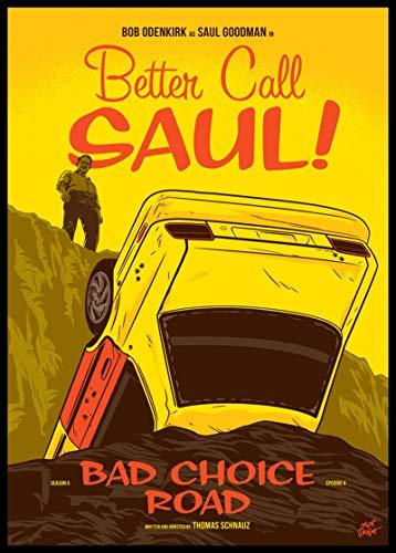 linbindeshoop Póster Retro de Better Call Saul Season 5, Papel de póster, Pintura de decoración del hogar, Adhesivo Decorativo de Pared Vintage (LW-3946) 40x60cm Sin Marco