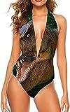 Mujeres niña Dos Piezas Cabestro Ajustable Trajes de baño de una Pieza Trajes de baño-Amantes de los Dinosaurios diseño de Abrazo de Pareja, 2XL