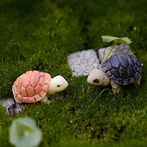 Hpybest 2 stks schildpad model voor poppenhuis fee tuin miniaturen Terrarium Home Desktop vetplanten Micro landschap decoratie