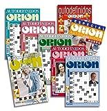DataPrice Pack de 8 Libros de Pasatiempos ORIÓN. Autodefinidos para Adultos Variados. - Ed. Zugarto...
