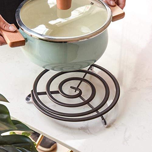 Wok Non Stickrunder Metall Untersetzer Matte für Küche Esstisch, Heisse Geschirr, Töpfel, Pfannen - mit Gummi-Pegs