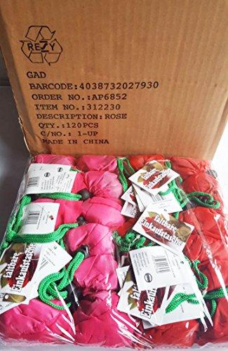 Moos 120 Stück Einkaufstaschen faltbar aus Nylon, Mini Einkaufstasche Wurfartikel für Karneval