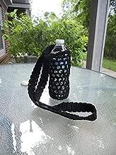 Crochet Bottle Holder, Crochet Bottle Carrier, Crochet Bottle Cover in Black