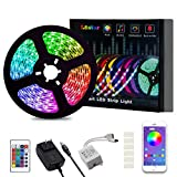 LED Strip Lights, L8star Color Changing Rope Lights 16.4ft SMD 5050 RGB Light Strips with Bluetooth Controller Sync to Music Apply for TV, Bedroom, Party and Home Decoration