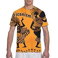 ユニセックスtシャツ、アジュによるアフリカニズム3 Dプリントスポーツシャツクルーネック半袖tシャツノベルティトップ