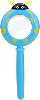 Tbest Cartoon Magnifier, Portable Kids Explorer Toy Insect Observation Magnifier Magnifying Glass (Cartoon Beetle)
