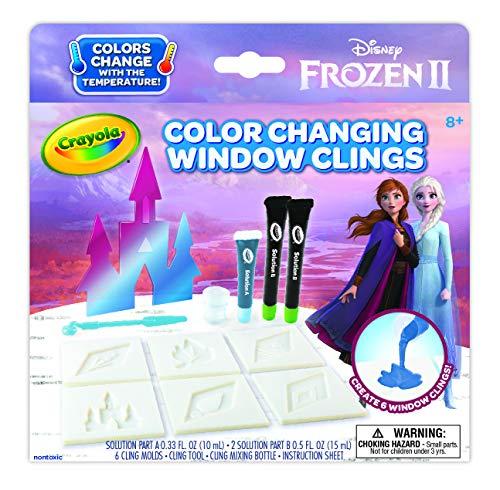 Crayola Frozen 2 Window Clings, Color Changing Custom Window Clings, Frozen Gift, Age 8, 9, 10, 11