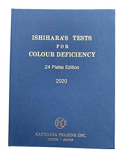 Ishihara Test Chart Books, for Color Deficiency - 24 Plate (Abridged Edition) Book