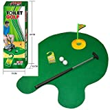 Tyger Games Toilet Golf, Potty Putter Toilet Time Golf Game, Toilet Golf Potty Putter Set, Great Gag Gift