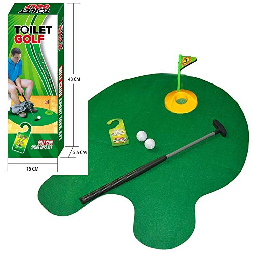 Save %15 Now! Tyger Games Toilet Golf, Potty Putter Toilet Time Golf Game, Toilet Golf Potty Putter ...