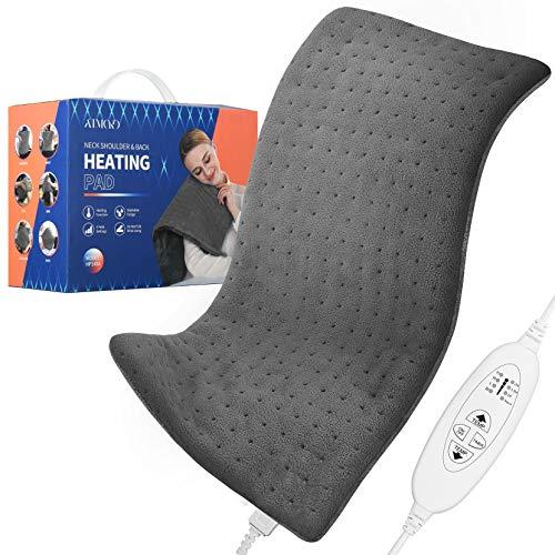 ATMOKO Heizkissen mit Abschaltautomatik maschinenwaschbar elektrisches Wärmekissen zur Linderung von Rücken Nacken und Schulterschmerzen
