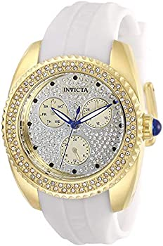 Invicta Women's Angel Stainless Steel Quartz Watch with Silicone Strap