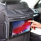 """Macally Tablet Holder for Car Back Seat - A Must Have Organizer and Backseat iPad Holder for Kids on Long Drives - Hanger Case Compatible with Any Vehicle Headrest and Tablets up to 10.5"""""""